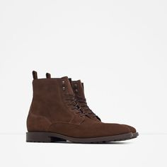Image 2 of LEATHER ANKLE BOOTS from Zara