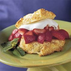 Classic Strawberry Shortcake    Skip those little cups you get from the grocery store and try our simple, Southern shortcake. If you're pressed for time, you can bake the cakes ahead and freeze them, wrapped in foil and stored in a zip-top plastic bag.
