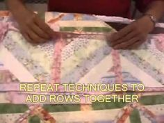 Fun & Done quilt as you go technique. Brilliant! I'm totally doing this.