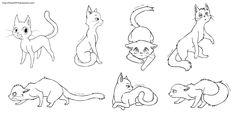 Free Cat Lineart by hikari2314.deviantart.com on @deviantART
