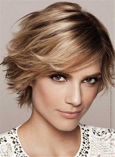 Feathered Pixie Haircut Short Straight Lob Synthetic Hair Capless Wig