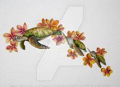 Honu: Hawaiian Turtle Personalized Tattoo designs
