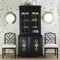 """This year, my Jackie is in China. Jewel tones, black lacquer, shiny brass, crisp Greek key trim, and Chinoiserie details are decorating necessities.""- Jonathan Adler"