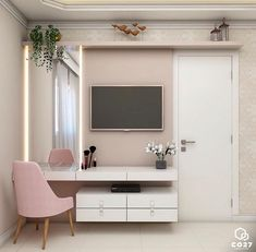 [New] The Best Home Decor (with Pictures) These are the 10 best home decor today. According to home decor experts, the 10 all-time best home decor. Girl Bedroom Designs, Room Ideas Bedroom, Small Room Bedroom, Home Bedroom, Modern Bedroom, Bedroom Decor, Bedroom With Tv, Home Office Design, Home Interior Design