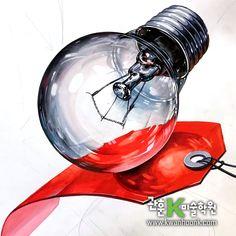 #전구 기초디자인, #기초디자인, #관훈K미술학원, #개체묘사 Industrial Design, How To Draw Hands, Sketches, Drawings, Illustration, Pattern, Anime, Pictures, Hands