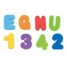 Lettres et chiffres en mousse pour le bain Munchkin
