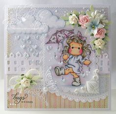 OOAK Magnolia Londres Tilda Handmade cartão
