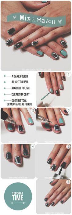 DIY Mix and Match Nails DIY Nails Art