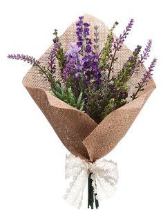 """Lavender Bouquet 11.5"""" Lavender Purple …"""