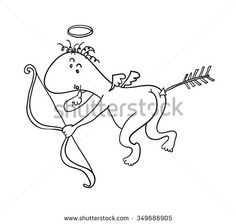 cupid illustration funny - Google Search