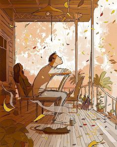 Pascal Campion heartwarming and soulful illustrations about everyday life with his wife and kids   #art #california #couple #drawing #illustration #losangeles #love #marriedlife #pascalcampion