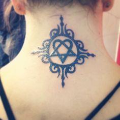 Heartagram tattoo - smaller version on wrist