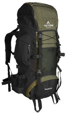 TETON Sports Scout 3400 Internal Frame Backpack Great Backpacking Gear or Pack for Camping Hiking Best Hiking Backpacks, Cool Backpacks, Molle Backpack, Travel Backpack, Camping Packing, Backpacking Gear, Sony, Internal Frame Backpack, Backpack Reviews