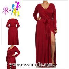 """""""Miranda Wrap Dress...only one left, size 1X; shop www.rossunitllc.com"""""""