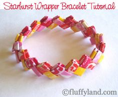 Turn colorful candy wrappers into fun, funky jewelry! This is a really fun project for preteens too!