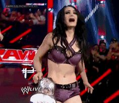 Awesome GIF of New WWE Divas Champion Paige on RAW http://dailywrestlingnews.com/?p=58507