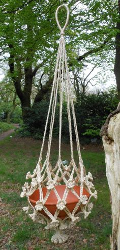 VINTAGE MACRAME PATTERNS 70s TABLES HANGING PLANTERS ...