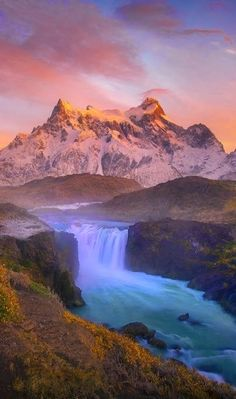 Salto Grande ,Torres del Paine National Park.