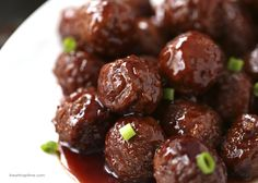 Crock pot grape jelly & BBQ meatballs -only 3 ingredients! - I Heart Nap Time