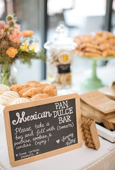 Brides.com: . A Mexican-inspired pan dulce bar with assorted pastries and candies.