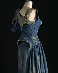 comme des garcons Junya Watanabe dress sidtressed denim spring 2002 Japan