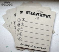 Thankful Game & Printable from Blissful Roots