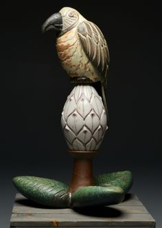 Laurie Landry - Parrot on a Magnolia Pod