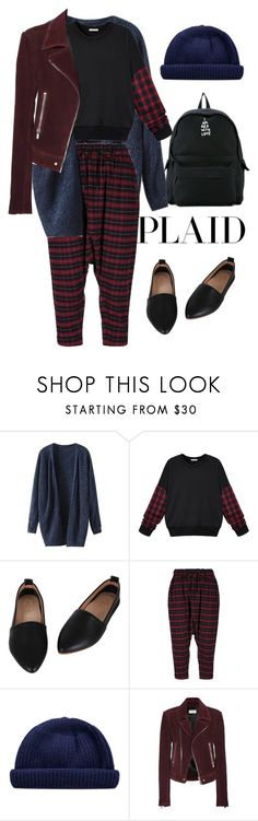 """""""Check It: Plaid"""" by ohlizzy ❤ liked on Polyvore featuring Arts & Science, Balenciaga, Ann Demeulemeester, contest, plaid and contestentry"""