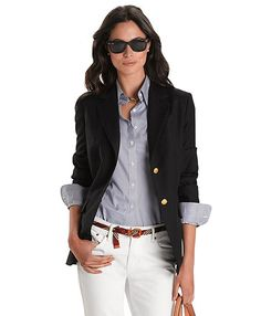 Classic Single-Breasted Blazer - Brooks Brothers. Have this. Love it. $398.00.