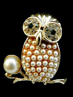 Rare brooch SARAH COVENTRY copyright  1960 - owl brooch -preciousness and style for the  most elegant owl-art.812/2- by RAKcreations on Etsy https://www.etsy.com/listing/165105774/rare-brooch-sarah-coventry-copyright