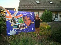 Welcome Poster einer Australien reisenden.