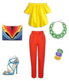 set2 by kryli4ka on Polyvore featuring polyvore, fashion, style, J.Crew, Topshop, Jimmy Choo, Elena Ghisellini, DIANA BROUSSARD, Belk & Co. and clothing