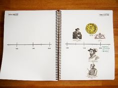 A Book of Centuries - thinking of having a wall timeline and then one of these for each child to draw in?