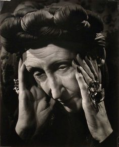 Dame Edith Sitwell photographed by Philippe Halsman, 1937, gelatin silver print
