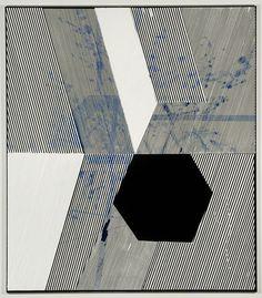 """Casey Kaplan -19. Kwartler, 2009  Acrylic and tempera on canvas  63 x 55"""" / 160 x 139.7 cm"""