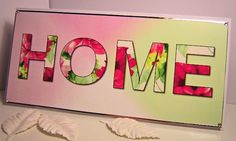 """""""HOME"""" Handmade New Home Card House Of Cards, Over The Years, New Homes, Neon Signs, Crafty, How To Make, Handmade, Home Decor, Hand Made"""
