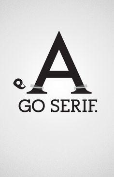 Sans vs. Serif by Felix Ng, via Behance