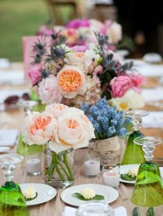 flower wedding table decoration