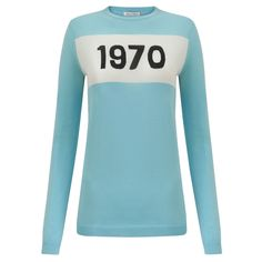 The A-list already have theirs, do you? The new sky blue hue in Bella Freud's 1970 jumper is perfect for tucking into this season's white.