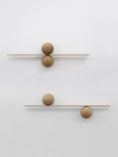 the S.D.T.M, 2014 shelf by Michael Anastassiades explores the beauty of balance via simple material and elemental form.