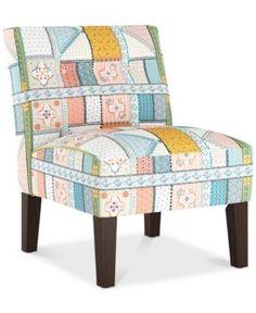 Calabasas Armless Chair, Quick Ship - Blue