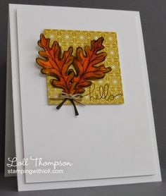 Stamping with Loll: Watercolored Fall Leaves with Distress Inks