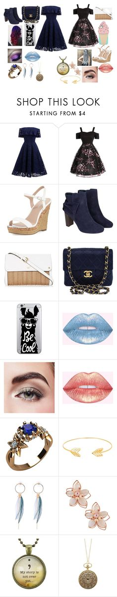"""Bestfriend summer day out outfit"" by ramon-nooodles ❤ liked on Polyvore featuring Charles by Charles David, Monsoon, Chanel, OTM Essentials, Avon, Lord & Taylor and NAKAMOL"
