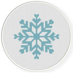 FREE for Dec 3rd 2016 Only -  Snow Flake Cross Stitch Pattern