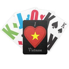 Shop Vietnam Vietnamese flag Bicycle Playing Cards created by Nekoni.