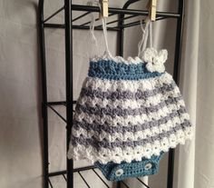 Crochet PATTERN baby romper crochet baby dress easy