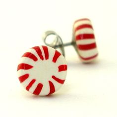 How cute are these peppermint earrings?
