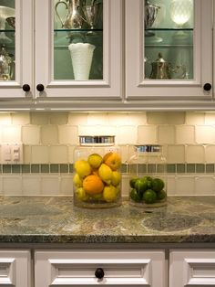 love the backsplash and the cabinet doors