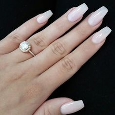 Coffin Nails . Light pink