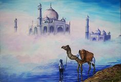 Taj Mahal, Indian Art Paintings, Building, Travel, Viajes, Buildings, Trips, Construction, Tourism